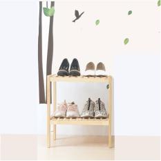 Kệ giày dép gỗ 2 tầng 50cm -2T500