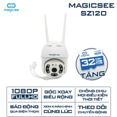 Camera giám sát an ninh ngoài trời xoay 360 Magicsee ZS120 – Full HD1080 – Chống nước – Hồng ngoại quay đêm – Cảnh báo chuyển động – Kết nối không dây wifi IP – Tiếng Việt