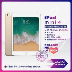 Máy tính bảng Apple iPad Mini 4 – 16 GB/64 GB (Bản 4G + Wifi ) CPU A8 1.5 Ghz RAM 2G màn hìnhLED backlit LCD, 7.9 tặng Bao da Bảo hành 6 tháng dành cho Game thủ, Làm việc, Học tập MR CAU