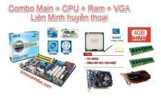 Combo CBLM1 AsusGiga G41 Cpu E8400 3Ghz Ram 4G Vga rời 2G Quạt Fe đầy đủ chơi Liên minh, fifa, đột kích