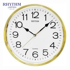 Đồng hồ treo tường Rhythm CMG734CR18 Basic Wall Clocks (Vàng)
