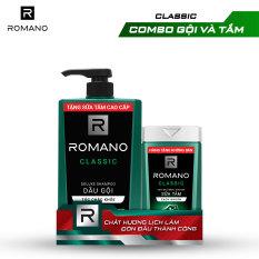 Dầu gội Romano Classic 900g + Sữa tắm sạch khuẩn Classic 180g