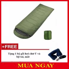 Túi Ngủ Văn Phòng + Tặng Gối Hơi Chữ U Bịt Mắt Và Bịt Tai TN01