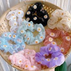 [ KÈM VIDEO + ẢNH THẬT ] HOTTREND 2020 Cột tóc hoa Cúc Scrunchies siêu kute phong cách Hàn cho phái nữ