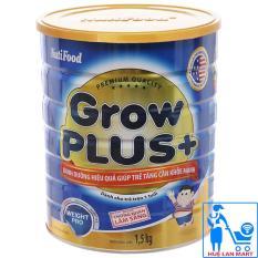 Sữa Bột Nutifood Grow Plus+ Xanh Hộp 1,5kg (Dinh dưỡng hiệu quả giúp trẻ tăng cân khỏe mạnh từ 1~10 tuổi)