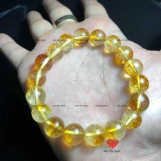 vòng tay đá ưu linh vàng 8li tự nhiên- chuẩn A