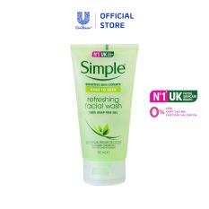 Gel rửa mặt Simple Refreshing Facial 150ml