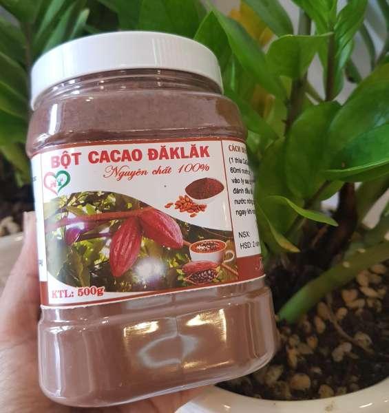 Bột Cacao Đăklăk nguyên chất 100% (500g)