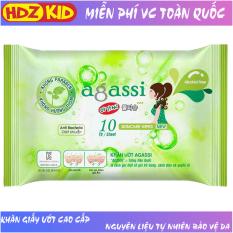 Khăn giấy ướt Agassi không hương chống khô da không gây nhờn và kích ứng, giữ ẩm và làm mềm da, sử dụng như giấy khô đa năng, dùng tẩy trang lớp trang điểm, thích hợp da nhạy cảm, sử dụng hàng ngày và khi du lịch – HDZ KID