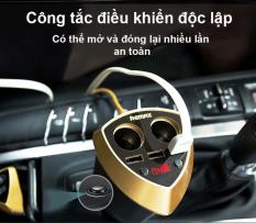 Bộ sạc và chia tẩu trên ô tô, xe hơi Remax CR-3XP ( Trắng ) – Hàng nhập khẩu