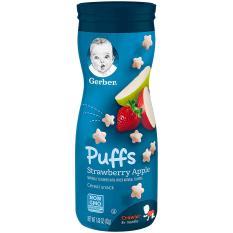 Bánh Ăn Dặm Gerber Puffs Strawberry Apple ( Hương Dâu Táo )