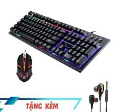 ( Tặng tai nghe siêu hay ) Combo bàn phím và chuột giả cơ G-20 led 7 màu tuyệt đẹp ( tặng tai nghe siêu hay )