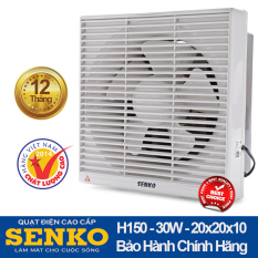 Quạt hút thông gió 2 chiều âm tường Senko H150 30W nhựa cao cấp, lọc bụi mbaor hành 12 tháng