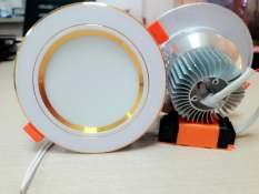 Đèn Led Âm Trần 3 màu 7w đế tản nhiệt. Ánh sáng: 3 chế độ ánh sáng trắng – vàng – trung tính