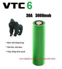Viên Pin sạc 18650 VTC6 3000mAh model mới 2020 chuyên dùng cho các loại Đèn Pin, thiết bị điện tử, mech, mod, box VAPEZ với dòng xả cao 30A (1 Viên Pin)