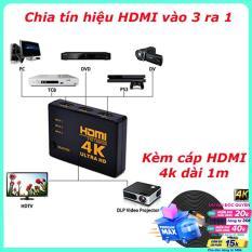 Bộ ghép nối Switch HDMI 3 vào 1 ra cho tivi, màn hình