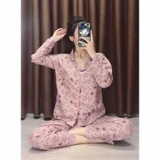 """"""" [BẢNG MÀU MỚI 49MÀU] Bộ Pizama Tay Dài màu kute (Pijama kate) [ Toàn Bộ Ảnh Thật], Bộ 18 (giá tốt)"""""""