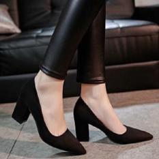 Giày cao gót nữ da lộn 5p cao cấp {Hình thật ảnh cuối}