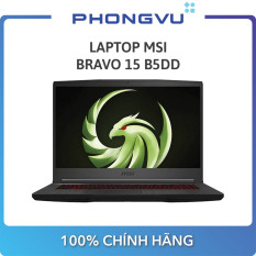 Laptop MSI Bravo 15 B5DD (15.6″ Full HD / Ryzen 5 5600H / 8GB / SSD 512GB / RX 5500M) – Bảo hành 12 tháng