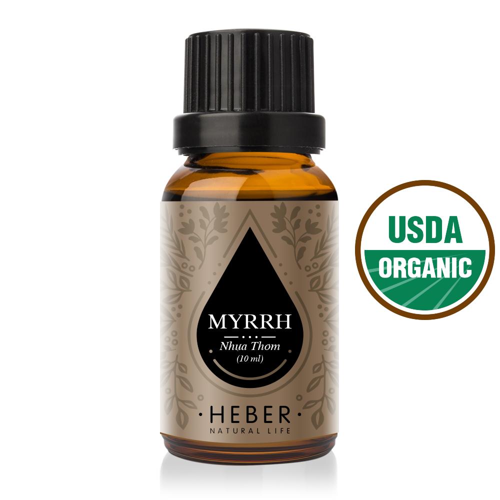 Tinh dầu Nhựa Thơm Myrrh Essential Oil Heber Vietnam 100% Thiên Nhiên Nguyên Chất Cao Cấp Nhập Khẩu Từ Ấn Độ Kiểm Nghiệm Quatest 3 Xông Thơm Phòng Hương Dịu Nhẹ
