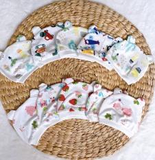 Set 2 mũ cho bé sơ sinh trai và gái từ 0-12 tháng