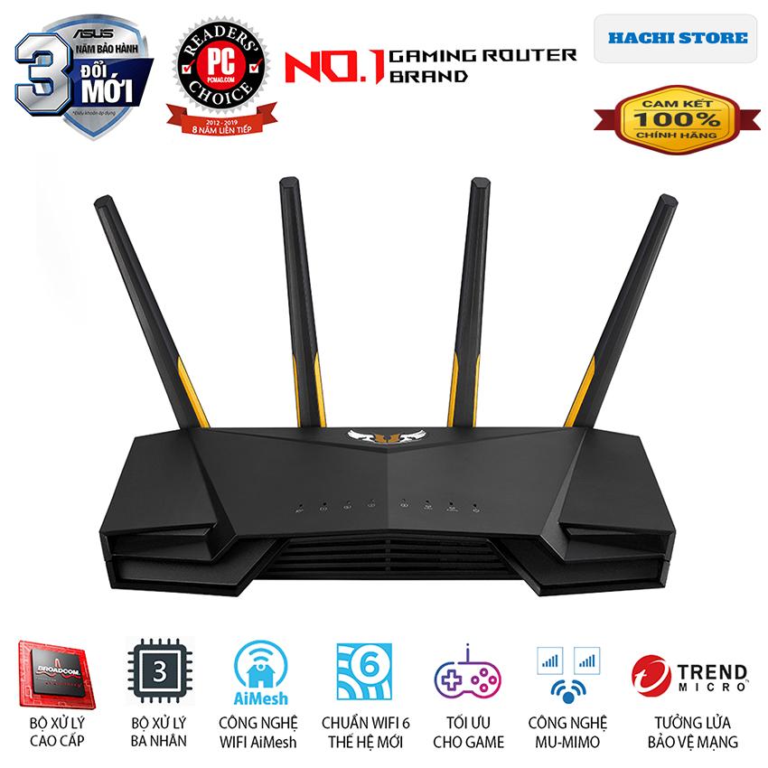 Bộ phát Wifi 6 Gaming ASUS AX3000 Băng Tần Kép TUF-AX3000 – Hàng Chính Hãng