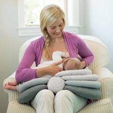 Gối, đệm lót đa năng điều chỉnh độ cao giúp mẹ cho trẻ sơ sinh bú nhiều giai đoạn JJOVCE, gấp xếp gọn gàng