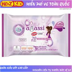 Khăn giấy ướt Agassi hương nhẹ chống khô da không gây nhờn và kích ứng, giữ ẩm và làm mềm da, sử dụng như giấy khô đa năng, dùng tẩy trang lớp trang điểm, thích hợp da nhạy cảm, sử dụng hàng ngày và khi du lịch – HDZ KID