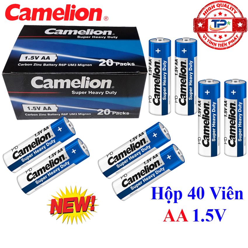 Hộp 40 viên Pin Tiểu AA (2A) Camelion Super Heavy Duty Battery 1.5V - mẫu mới