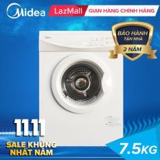 Máy Sấy MIDEA 7.5 Kg – Công nghệ sấy đảo chiều – Máy sấy làm khô quần áo dành cho gia đình ít người – Máy sấy giá rẻ MDS75-V012 Midea 7.5kg