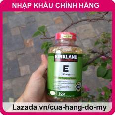 Vitamin E Kirkland 400 IU Mẫu Mới Nhất – 500 Viên ND [DATE MỚI] – Vitamin E của Mỹ giúp sáng da, mịn màng.