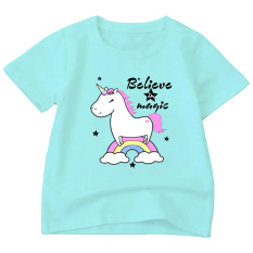 Áo thun bé gái form rộng in hình dễ thương ATBTM95 chất liệu poly cotton sản phẩm của thời trang Elsa