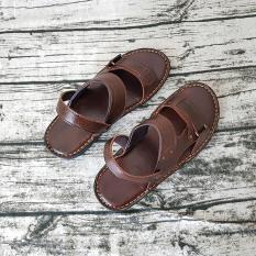 Giày Sandal Nam Da Bò Thật Mềm Mại Siêu Đẹp Ensado DE31999AN (Nâu)
