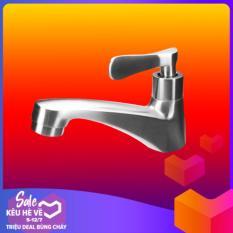 Vòi lavabo lạnh thép 304 không gỉ , Vòi nước, Vòi chậu rửa HENGNIU Tặng 1 ống nước 50mm