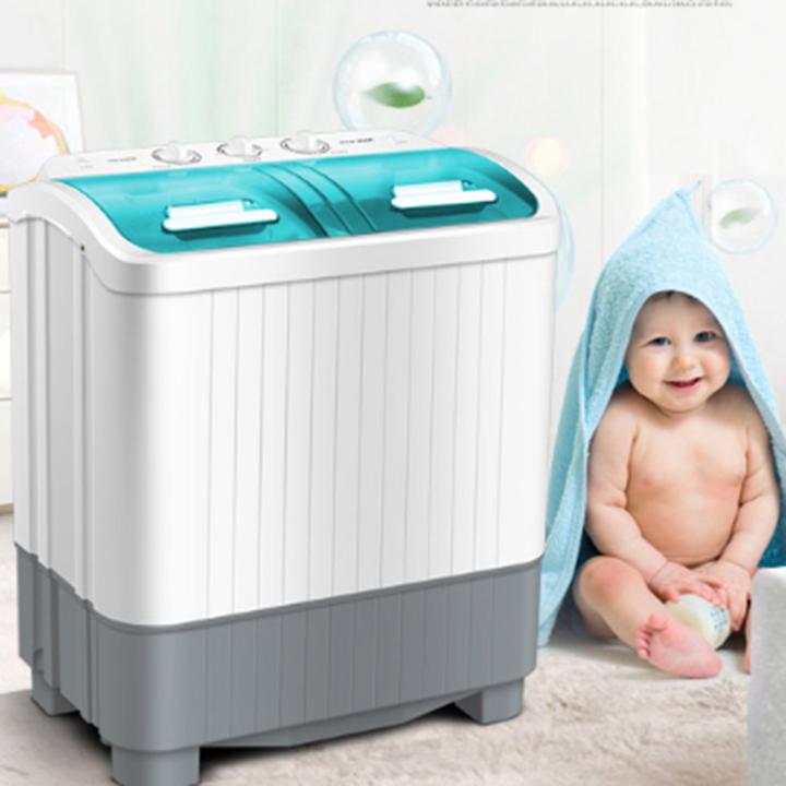 Máy giặt mini AUX 2 lồng giặt 5.6kg đồ bán tự động