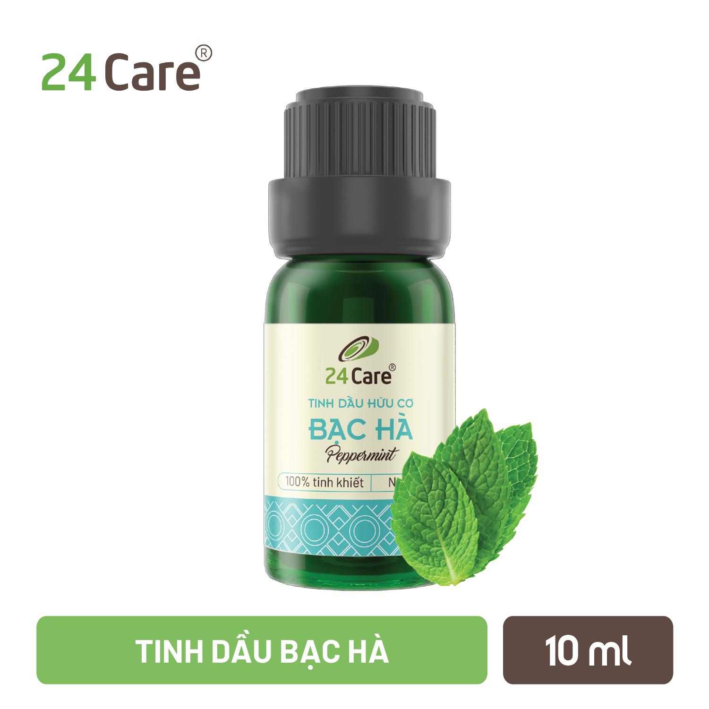 Tinh dầu Bạc Hà 24Care – khử trùng, khử mùi, thơm phòng, thư giãn, sảng khoái