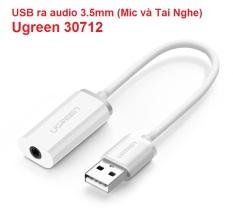 Cáp chuyển USB ra audio 3.5mm (Mic và Tai Nghe) Ugreen 30712