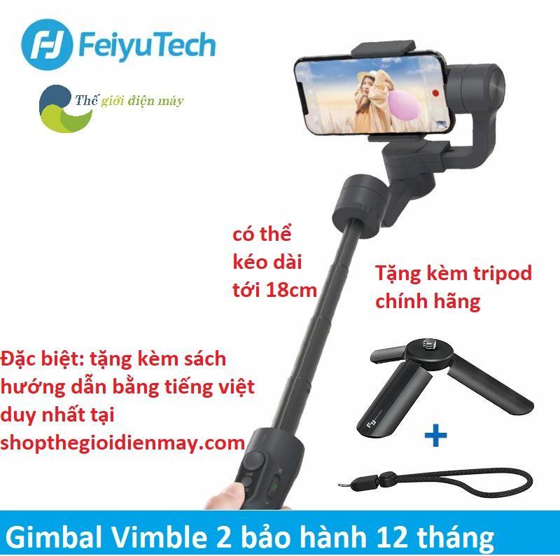 Tay cầm chống rung gimbal Feiyu Vimble 2 chống rung điện thoại, camera hành trình nhỏ gọn full phụ kiện...