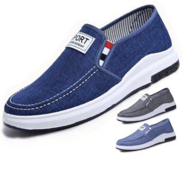 Giày mọi, giày lười – giày mọi thể thao vải jean thời trang Hàn Quốc