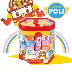 Túi đồ chơi lego xếp hình khối lớn POLI cao cấp cho bé sáng tạo, học tập, tư duy 3623