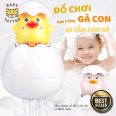 BABY TATTOO Đồ chơi quả trứng gà con đi tắm cho bé, kích thích thị giác cho trẻ nhỏ chất liệu nhựa ABS an toàn không kích ứng, màu sắc sinh động kích thích thị giác trẻ nhỏ
