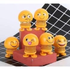 Bộ 7 Thú nhún Emoji Lò Xo lắc đầu hình biểu tượng cảm xúc- Trang trí xe ô tô, bàn làm việc – GIAO MÀU NGẪU NHIÊN