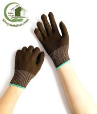 [HCM]Găng tay thun co giãn làm việc bao tay làm vườn sửa chữa dọn dẹp – Thun trơn màu nâu [ 1 đôi ]