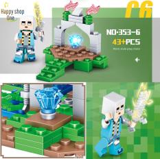 [HOT 2020]Lego giá rẻ, Lego Minecraf My World , Minecraf 353-1💖 Minecraf Thác Nước, Tặng cặp rồng ender cực chất cho minecraf thác nước