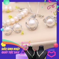 Bộ trang sức bạc ngọc trai cao cấp BNJ-0405