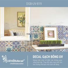 Decal dán tường gạch bông DGB-UV-819 80x60cm SET A-B-C (36 mẫu hoa văn)