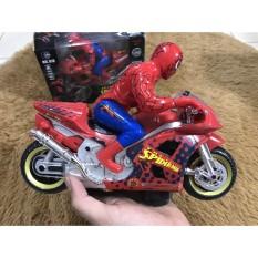 Đồ chơi xe máy người nhện chạy pin có tặng kèm pin