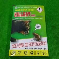 Thuốc diệt chuột Killrat – hộp 100gr 2 gói (không cần trộn thức ăn)