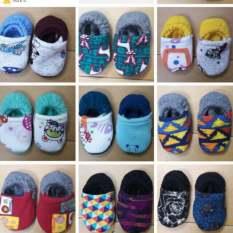 Combo 10 Đôi Giày Vải Giày Nỉ Cho Bé Hàng Đẹp Không Trơn Trượt, Êm Chân Thoải Mái