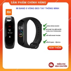 [MIỄN PHÍ SHIP-TẶNG MÃ GIẢM GIÁ 20K] Vòng đeo tay thông minh Xiaomi Mi Band 5 – Màn hình AMOLED 1.1″ Chống nước 5ATM, Theo dõi sức khỏe, kết nối Bluetooth, hỗ trợ tiếng Việt – Hàng chính hãng